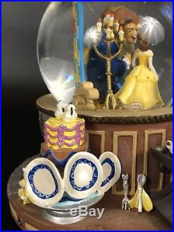 1991 Disney Beauty And The Beast The Encahnted Love SnowithWater Globe