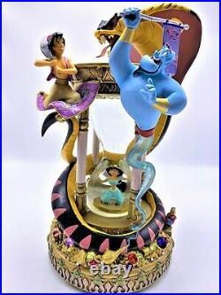 Aladdin Hourglass Arabian Nights Musical Snow globe With Lights