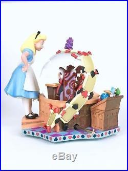 Alice In Wonderland 50th Anniversary Disney Store Snow Globe Musical