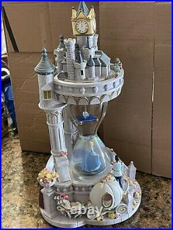 Authentic Disney CINDERELLA Princess Hourglass Snowglobe Musical Lights Up