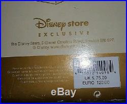 Beautiful Disney Cinderella Musical Snowglobe WithClock Tower Limited Edition NIB