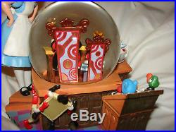 Beautitful Alice In Wonderland 50th Anniversary Disney Snow Globe Music Box