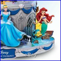 Bradford Disney Magical Glitter Snow Globe Castle Mickey Minnie Princess NEW