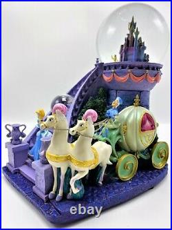 CINDERELLA DREAM OF THE BALL Musical Light up double Snow Globe Rare & Retired