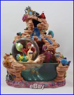 DISNEY Ariel Little Mermaid Water Fountain Snow Globe Rare