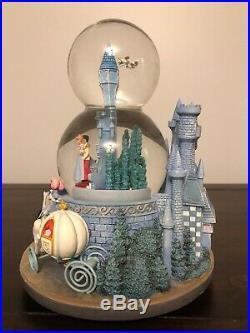 DISNEY Cinderella Wedding Castle Two-Tiered Snow Globe