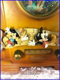DISNEY OLD RADIO Snowglobe Jiminy Cricket Tune WHEN YOU WISH UPON A STAR MICKEY