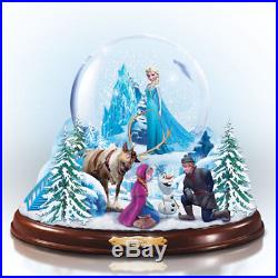 DISNEY THE MAGIC OF FROZEN SNOWGLOBE With KRISTOFF SVEN OLAF AND ANNA