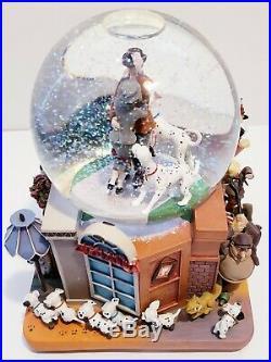 Disney 101 Dalmatians Snow Globe With Music & Lights Very Rare