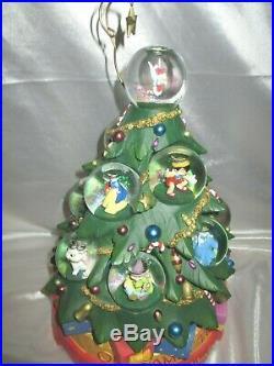 Disney A Christmas Holiday Celebration Mickey Stitch Snowglobe Musical Tree