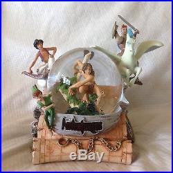 Disney Aladdin Hercules Peter Pan Tarzan's ADVENTURERS Musical SnowGlobe-MIB