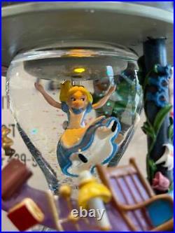 Disney Alice In Wonderland Hourglass Snowglobe NEW IN BOX HTF
