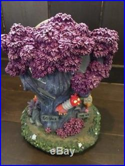 Disney Alice in Wonderland Snow Glove Dome Cheshire Cat Tulgy Wood Music Box