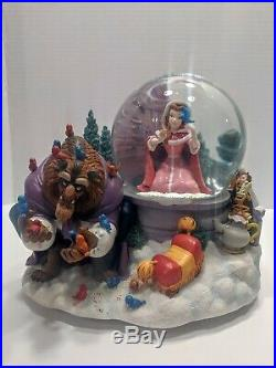 Disney BEAUTY AND THE BEAST Snow Globe Bird Feeding Scene