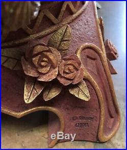 Disney BEAUTY & the BEAST 10th Anniversary Snow Globe Figurine HTF Rare READ
