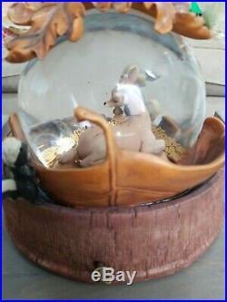 Disney Bambi & Mother 60th Anniversary Little April Shower Snow Globe RARE Works