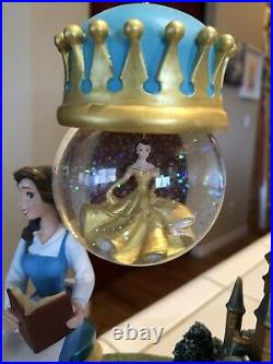 Disney Beauty And The Beast Belle Hanging Snow Globe RARE in Box Ornament