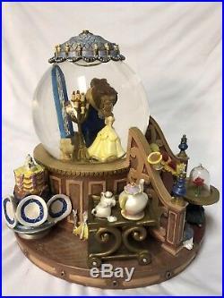 Disney Beauty And The Beast Musical Snow Globe