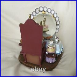 Disney Beauty & The Beast Belle BE OUR GUESS Musical Spin Figurine SnowGlobe