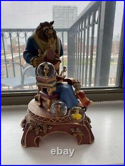 Disney Beauty and the Beast 10th Year Anniversary Snowglobe