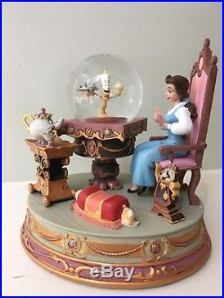 Disney Beauty and the Beast Be Our Guest Belle Snow Globe