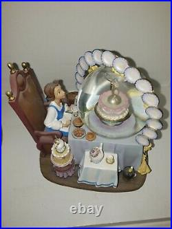 Disney Beauty and the Beast Be Our Guest Snowglobe