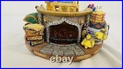 Disney Beauty and the Beast Belle Lumiere Potts Cogsworth Fireplace Snow Globe