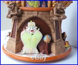 Disney Beauty and the Beast Music Snow Globe Pedestal Prince & BelleVery Rare