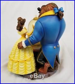 Disney Beauty and the Beast Snowglobe Water Globe Belle Rose Music Box