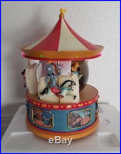Disney Brave Little Tailor Carousel Musical Light-up Snowglobe Water Snow Globe