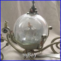 Disney Cinderella MAGICAL CARRIEGE Pumpkin Coach Figurines SnowGlobe-MIB withCOA