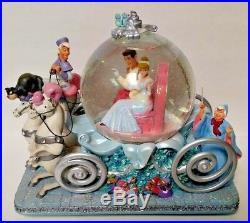 Disney Cinderella's 50th Anniversary Musical Snow Globe Rare HTF Flawed is Love