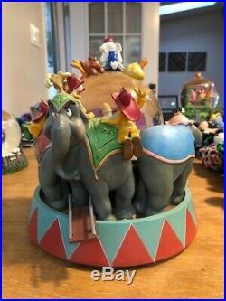 Disney Dumbo Circus mad elephants Mrs Jumbo snowglobe Rare