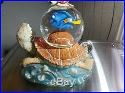 Disney FINDING NEMO with CRUSH The Turtle Musical Figurines Multi SnowGlobes