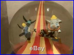 Disney Flying Dumbo Musical Snowglobe With Moving Train Clowns Circus NEVER OPENED