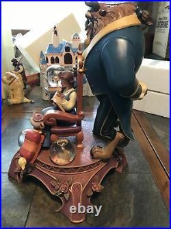 Disney Gallery 10th Anniversary Beauty and the Beast Figurine Mini Snowglobes