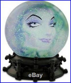 Disney Haunted Mansion Madame Leota Disk Snow Globe Lights Up withraining bats NIB