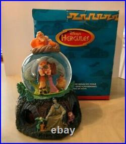 Disney Hercules Musical Snow Globe Rotating Base Rare Retired