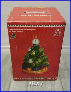 Disney Holiday Christmas Family Tree Celebration Musical Snowglobe Snow Globe NR