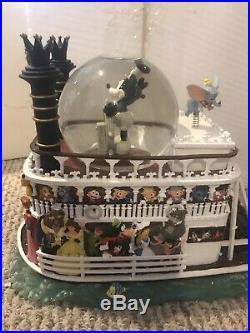 Disney Liberty Belle Riverboat Fantasmic Snow Globe