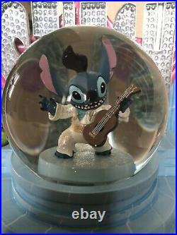 Disney Lilo & Stitch 626 Elvis Presley Stage Aloha Oe Snowglobe RARE