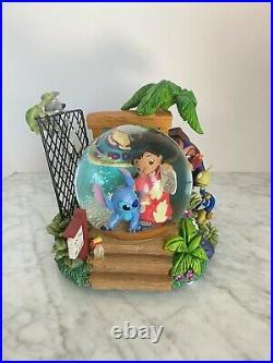 Disney Lilo & Stitch Aloha Animal Rescue Snowglobe Statue RARE Globe Adoption