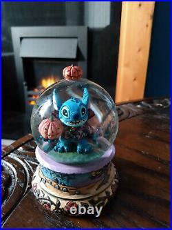 Disney Lilo and Stitch Vampire Stitch Snow Globe Halloween ENESCO RARE