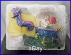 Disney Little Mermaid Ariel & Seahorses Musical Snowglobe Water Snow Globe New