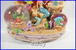 Disney Little Mermaid Snowglobe Under the Sea Ariel Figure Musical Box