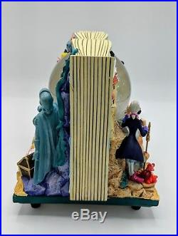 Disney Little Mermaid Storybook Ariel Musical 2 Sided Snow Globe, Very Good Cond