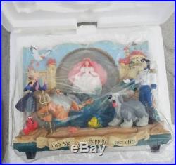 Disney Little Mermaid Storybook Ariel Musical Snowglobe Water Snow Globe New! NR