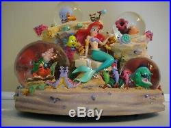 Disney Little Mermaid snow globe Symphony Under the Sea music box NIB 1988