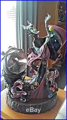 Disney Maleficent And Dragon Sleeping Beauty Villians Snow Globe Figurine Coa