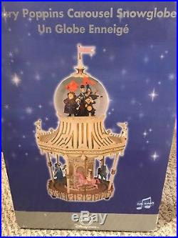 Disney Mary Poppins Jolly Holiday Carousel Snow Globe-read Description